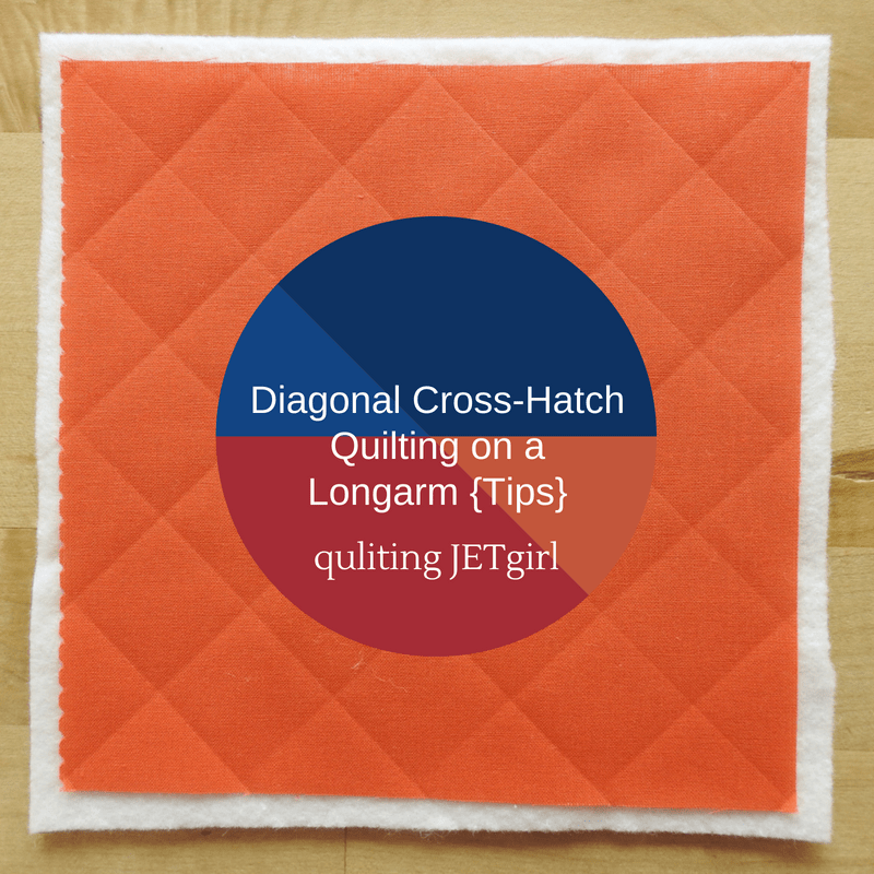 Diagonal Cross-hatch Quilting on a Longarm {Tips}